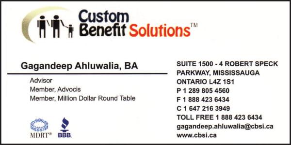 Custom Benefits Solutions Inc.