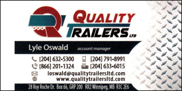 Quality Trailers Lyle Oswald