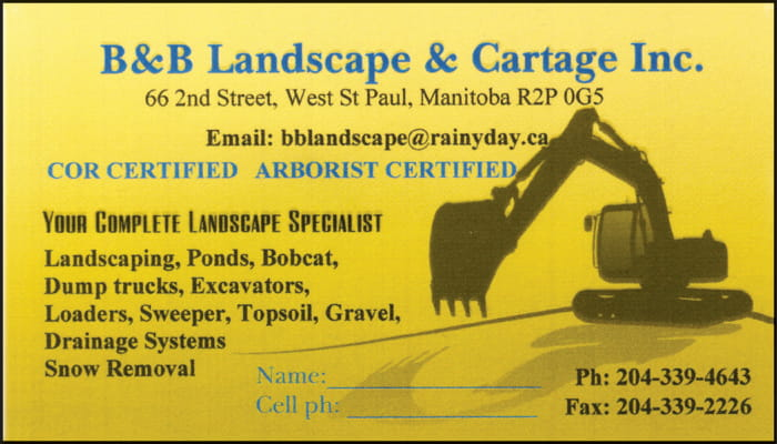 B & B Landscape & Cartage Inc