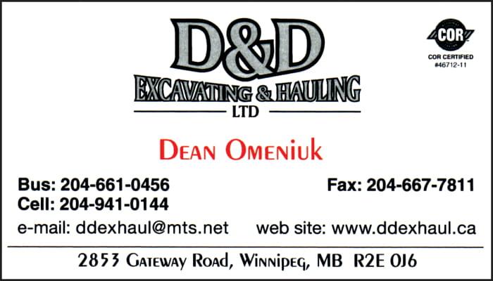 D&D Excavating Hauling Ltd
