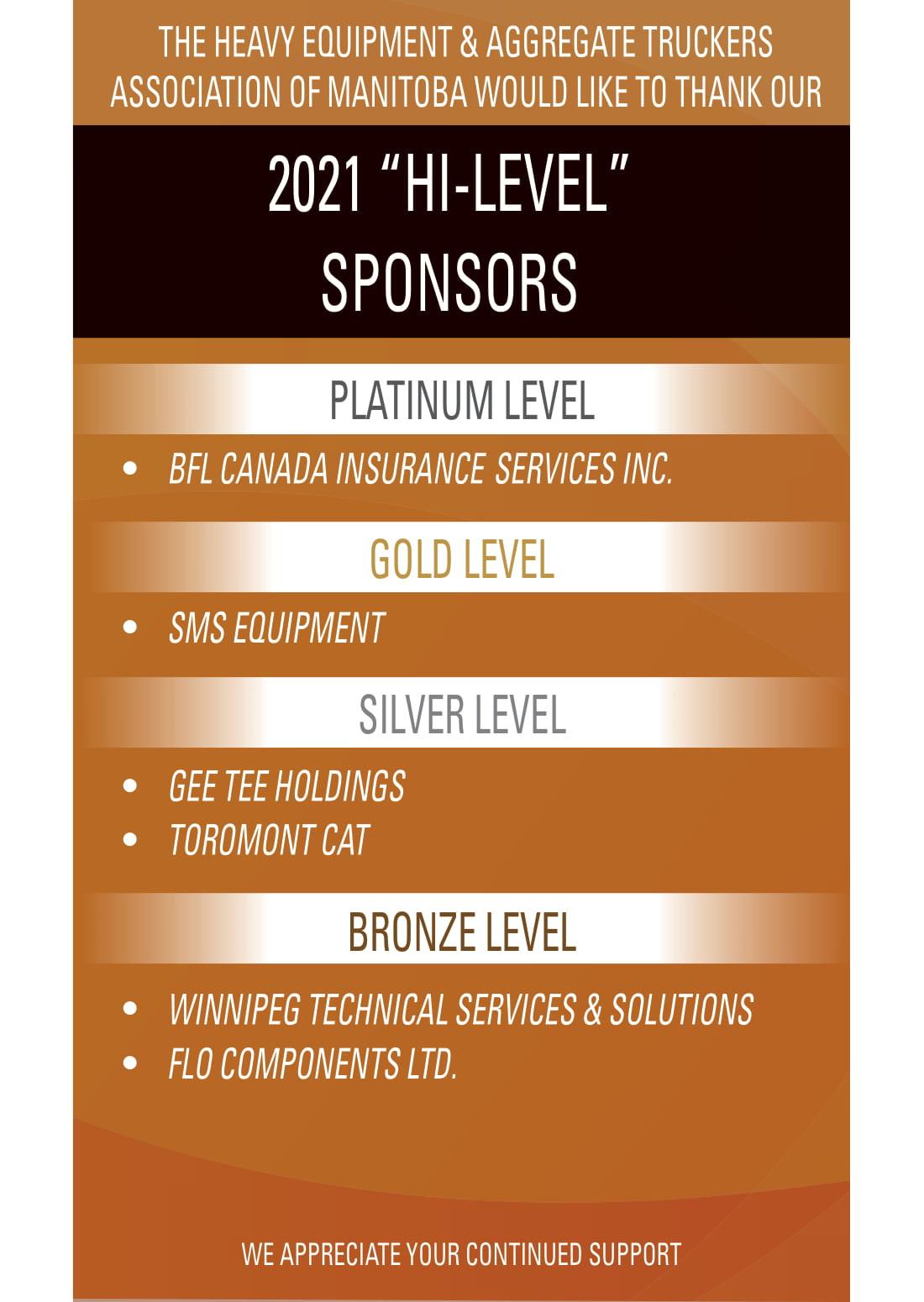 Heatmb 2021 Hi-Level Sponsors